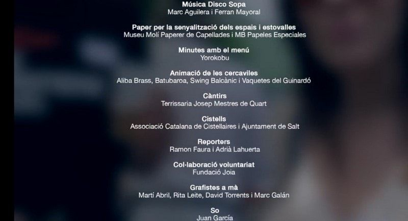 credits on apareix ali babras al video oficial